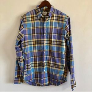J Crew Summer Plaid Tailored by Jcrew Shirt Small